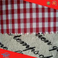 2014 Fashion 100 Cotton Yarn Dyed Men's Shirt Fabric Wholesale T Shirt Design