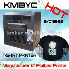 2015 new model Flatbed digital T shirt printing machine creat your own t shirts sale