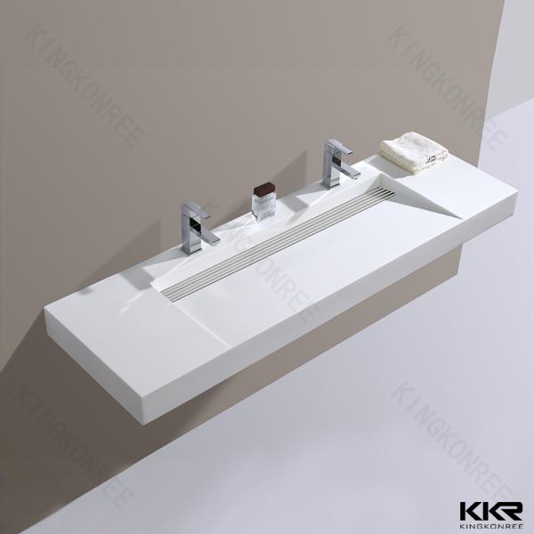 Kingkonree Salle De Bains Bassin En Pierre Artificielle, carré ...