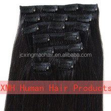 2015 Lace Clips in Indian Human Hair Extensions Easy Wear For Women