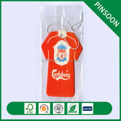 Custom logo paper car air freshener for promotion