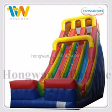 Double sided inflatable super water slide, inflatable slip and slide