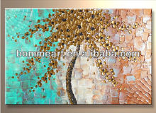 Knife painted High Q. Wall Decor Modern Landscape Oil Painting on canvas 10x20inch 3pcs/set wood Framed