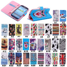 2015 China wholesale print flowers design leather case for samsung galaxy S3 III i9300