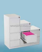 RAL9001 vertical 4 drawer office filing cabinet/easy assemble modern metal office filing cabinet