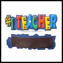 Cute colorful word 3D cartoon pvc fridge magnet