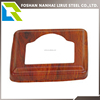 Wooden color stainless steel Stair base cover for decoration