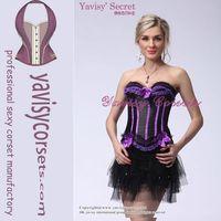new fashion purple black vertical strip side zipper sauna shaper