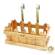 Muti-função banho prateleira de madeira com cesta de metal