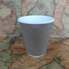 12oz 16oz heat insulation ripple paper coffee cups from china