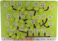 Sliding Board Wooden Puzzle With Alphabet Recognizing