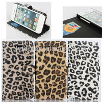 Luxury Leopard Phone Case Cover for Apple iPhone 5C, Ultra-thin Wallet PU Leather Cover for iPhone 5C Card Holder Stand Flip
