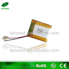 high safty 282730 3.7v 200mah li-po battery/li-ion battery cell 3.7v/heating pad battery