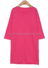 korean ladies pink shirt for summer