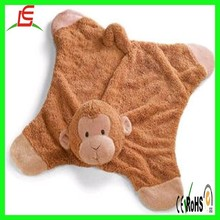 LE C1573 monkey baby stuffed plush blanket