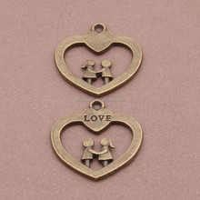 Manual accessories material bronze boys and girls love to hang