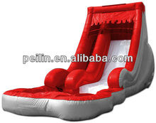 Red inflatable water slide for sale
