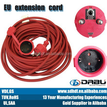 Eu standard extension cord reel package rubber cable wire