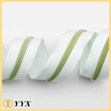 heavy duty white No.5 nylon gold teeth taiwan zipper