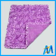 Wholesale Super Soft Baby Blanket Lavender 3D Rose Blankets For Baby Newest Soft Touch Baby Swaddle Blankets