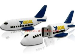 hot sale-8gb pvc airplane usb elctronic gadget