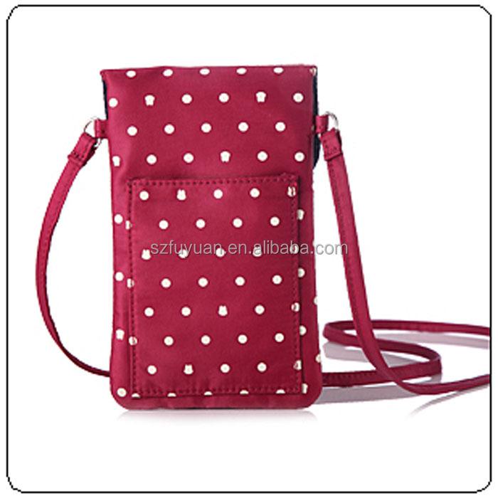 girls lovely dots print mobile phone bag