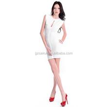 2015 popular elegant halter cheap price women White Evening Gowns Dresses
