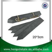 Factory Direct Price Handmade Decorative Arrow Shape 20*3cm Cut Edge Black Slate Plant Label Cheap Plant Marker For Garden