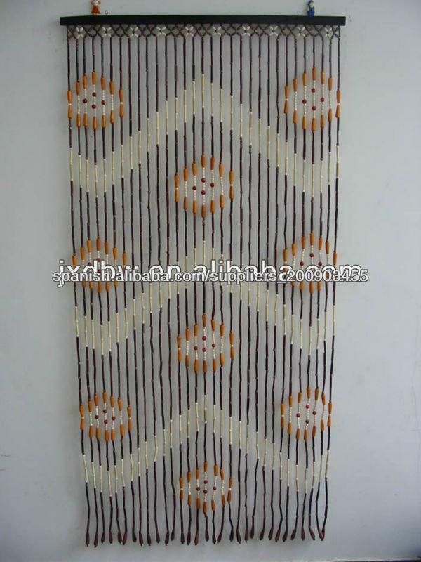 Los granos de madera correderas cortina de puerta de for Cortinas de madera para puertas