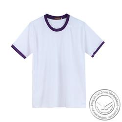 240 grams wholesale silk/cotton v neck girls printed tshirt