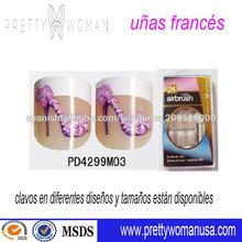 salón de belleza uñas decorar prensa en las uñas uñas francés diseño