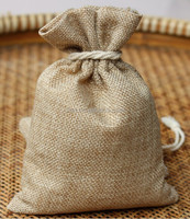 9cm*12cm or Customized Small Drawstring Jute Gift Hessian Bags/ Burlap Organic bags / Gunny Packing bags