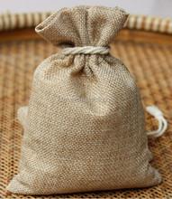 9 cm * 12 cm o modificado para requisitos particulares pequeño cordón de yute regalos arpillera bolsas / arpillera bolsas orgánicos / yute bolsas de embalaje
