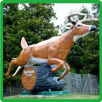 Amusement Park popular polyresin animal life size resin statue