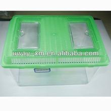 UW-330-A Customized color high quality transparent plastic aquarium fish tank with green handle