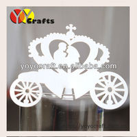 "Personalized ""love carriage""place cards for wine glass wedding party decoration for wholesale and retail"