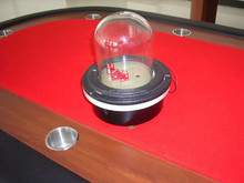 electric custom leather dice cups with saucer of glass and metal lid