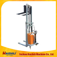 Semi-electric hand pallet stacker
