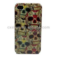 Heart Flower Hard Skin Case Cover for Apple Iphone 4 4s GEN + One Headset Winder