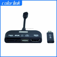 MHL to HDMI with OTG Cable 5 in 1 MHL for Samsung S3 i9300 N7100 Note3