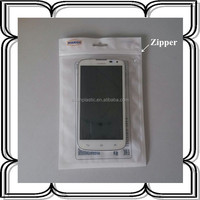 custom resealable ziplock plastic zipper bag for mobile phone