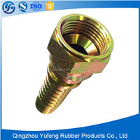 Carbon steel female flat seat hydraulic hose fitting for truck spare parts