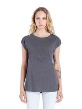 Custom cotton printed tshirt women