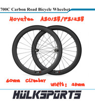 Wholesale Road bicycle wheels 700c full carbon road bike 60mm Clincher wheels with 23mm width