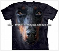 New Customade Black Dog Disigne 100% Polyester Sublimation Shirts for Men / Women