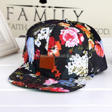 american flat bill snapback hat,flower brim snapback cap,ear flaps flat brim cap