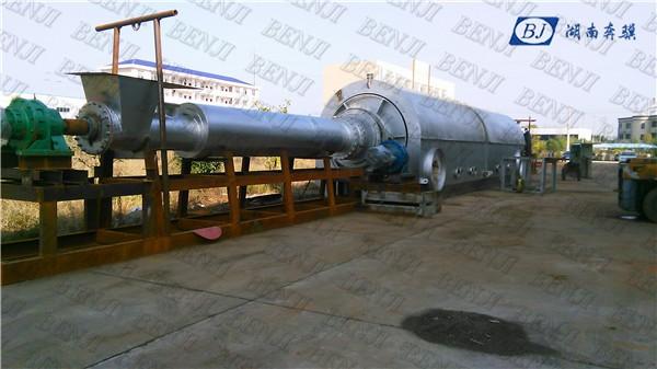 BJ5L-50-R #20 Haute capacité déchets continue usine de recyclage de pneus