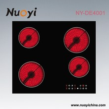 Good quality 4 burner glass top gas stove/induction cooker ceramic plate