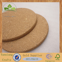 Synthetic cork coasters Pure cork mats
