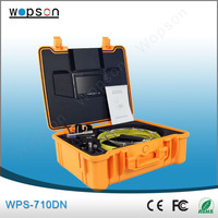 Underground pipe inspection camera with new skids and mini typing keyboard